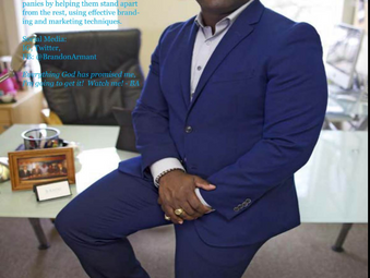 CEO, Journalist, and Motivational Speaker Brandon Armant among Five Entrepreneurs Featured in YV Mag