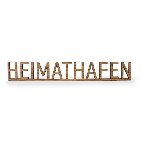Schriftzug L - Heimathafen