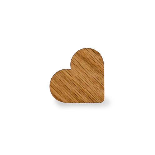 Magnetpin Eiche Herz