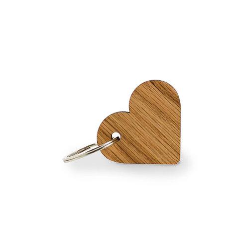 Schlüsselanhänger Eiche Herz