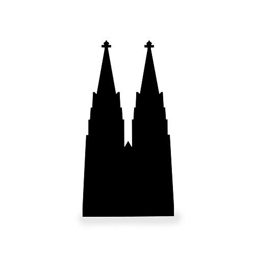 Silhouette für Bilderleiste Motiv Kölner Dom