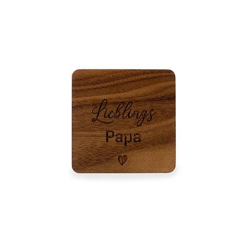 Glasuntersetzer | Bierdeckel aus Holz - individueller Text - Vatertag
