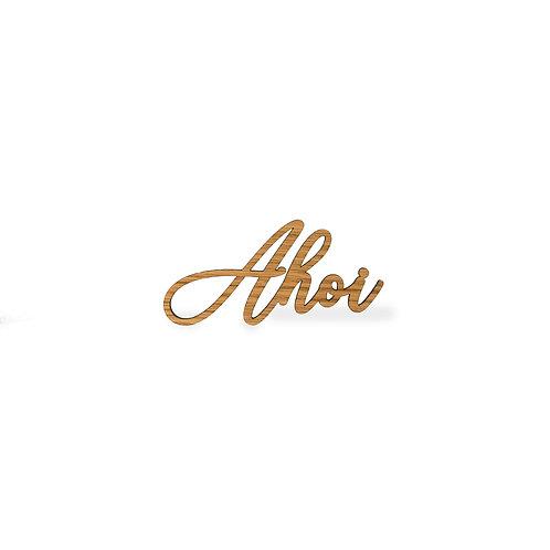 Schriftzug S - Ahoi