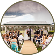 Jacaranda Gazebo Ceremony above the vines with view of the mountains