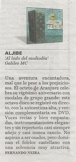 Al lado del Mediodía. Crítica Fernando Neira. El País.