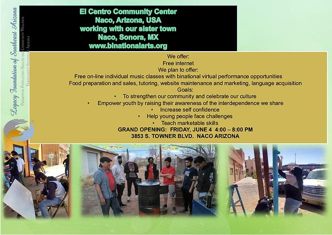 El Centro Community Center virtual poste