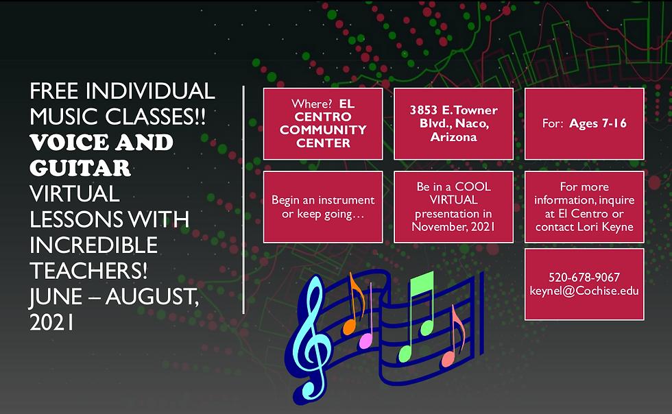 El Centro Music Lessons Flyer