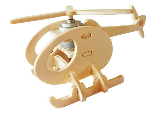 3D Solar Powered Helicopter Jigsaw
