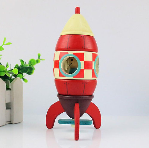 Janod Wooden Magnetic Rocket