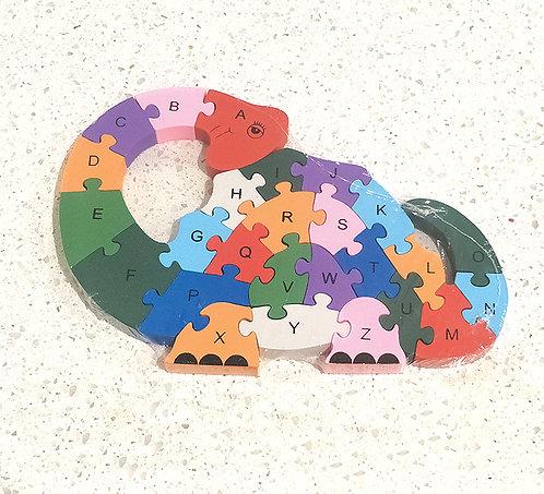 Wooden Dinosaur Alphabets & Numbers Jigsaw.