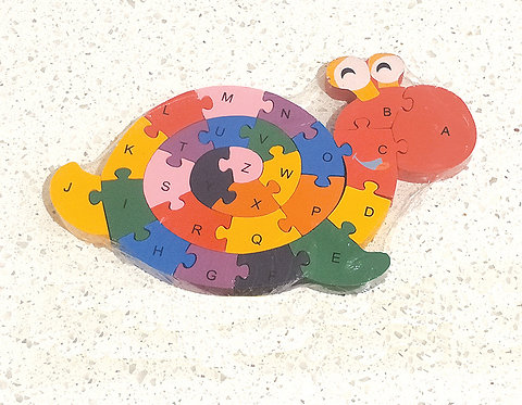 Wooden Snail Alphabets & Numbers Jigsaw