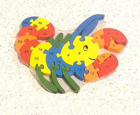 Wooden Lobster Alphabets & Numbers Jigsaw