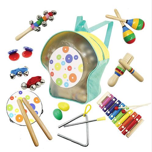 10pcs Wooden Musical Instruments
