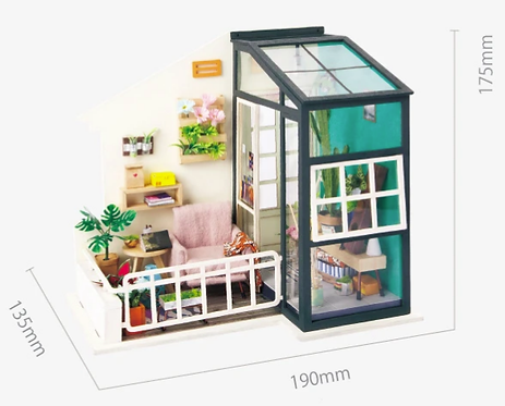 Robotime DIY Mini Balcony Daydreaming with Lights