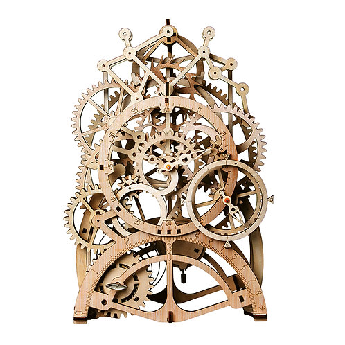 3D Wooden Pendulum Clock