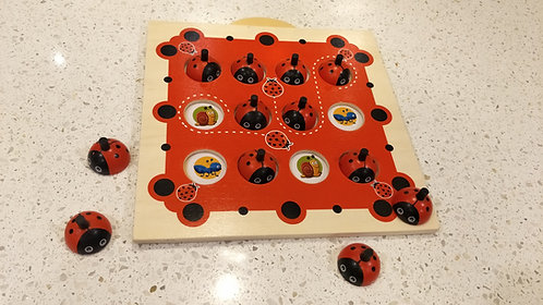 Classic Wooden Ladybird Memory Board Game