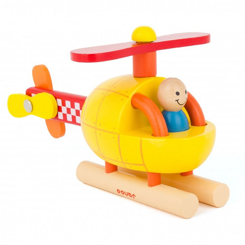 Janod Wooden Magnetic Helicopter