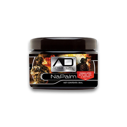 Active Duty RX NaPalm Topical Balm with CBD, CBG, & Menthol