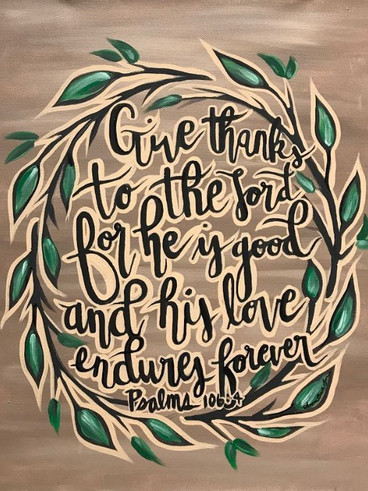 Custom Canvas Calligraphy, Psalms 106:4,