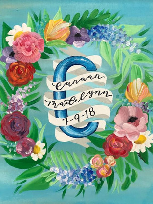 Custom Canvas (for baby girl) , 2018