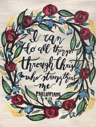 Custom Painting, Philippians 4:13, 2017