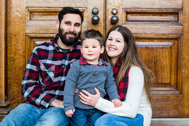 Family photo in Poughkeepsie, New York