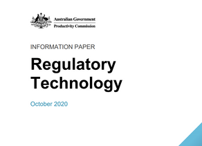 Work smart not hard: Productivity Commission publishes paper on RegTech