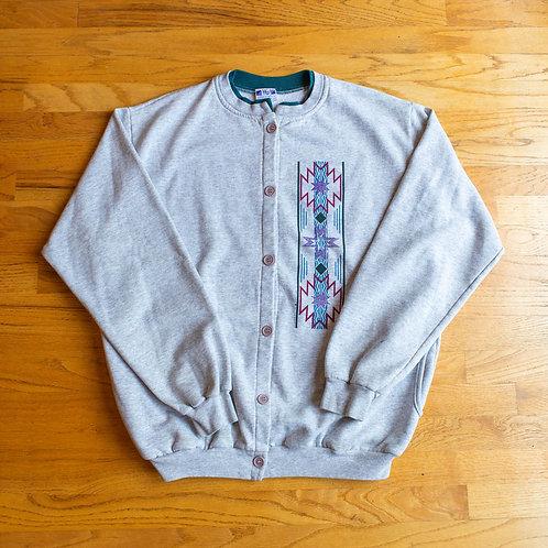 1991 Art Unlimited Sportswear Button-Up Sweatshirt (XL)
