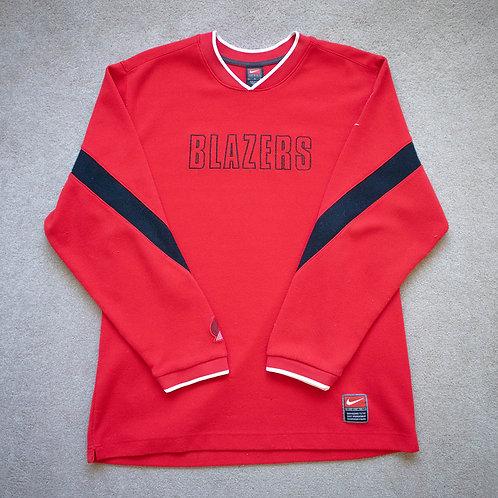 90s Portland Trail Blazers x Nike Team Warm-Up Sweatshirt (L)