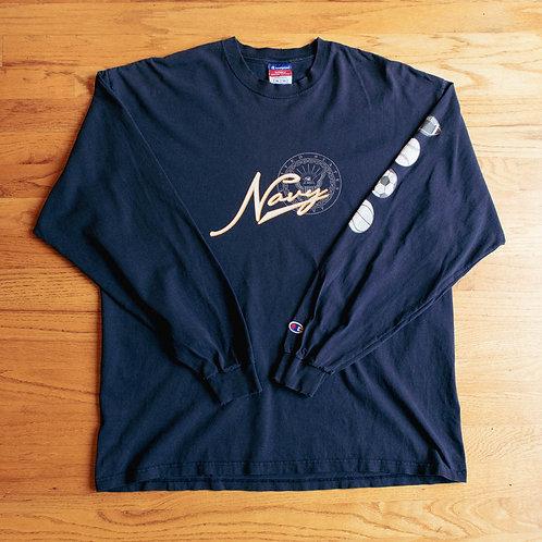 Navy x Champion Long Sleeve Shirt (XL)