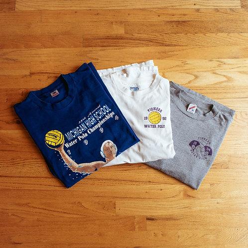 1992-94 Pioneer High School Water Polo Team T-Shirt Pack (XL/2XL)