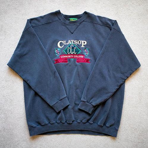 90s Clatsop Community College Sweatshirt (XL)