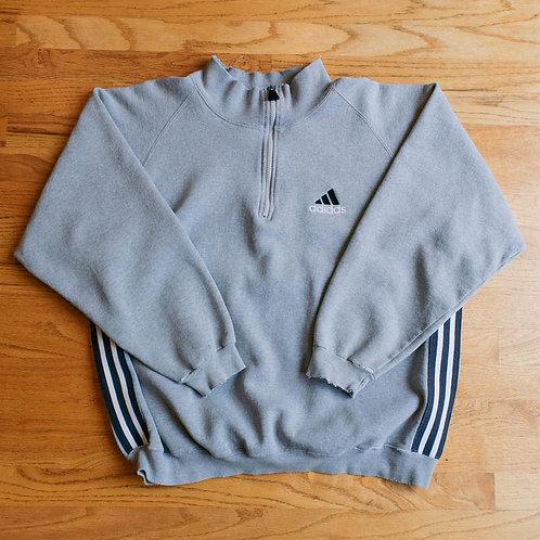 90s Adidas Half-Zip Sweatshirt (L)