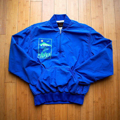 80s Hood to Coast Nightcrawler Half-Zip Windbreaker (M)