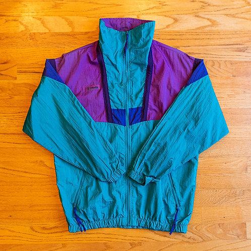 90s Columbia Sportswear Full-Zip Windbreaker (M)