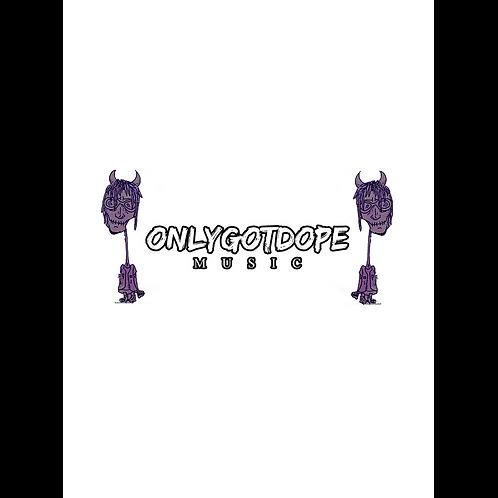 onlygotdope Kiss Cut Sticker