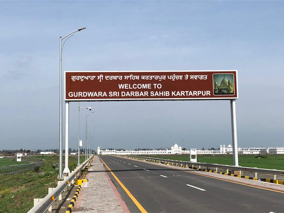 Kartarpur Sahib in Pakistan through Kartarpur Corridor.
