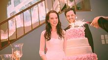 Red Velvet and French Vanilla Wedding Cake
