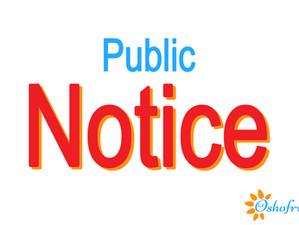 Public Notice!!!