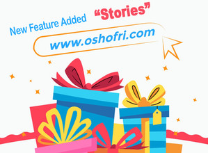 "Check out the new feature on oshofri  ""stories"""