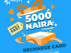 "MAKE 5 POST ON OSHOFRI ""STORIES"" AND WIN N500 CASH GIVEAWAY"