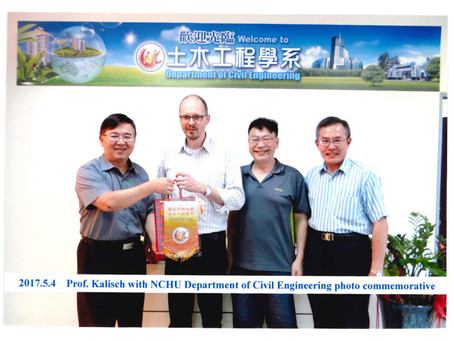 Visit to the Department of Civil Engineering at NCHU in Taiwan