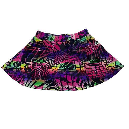 Shorts saia estampa geométrica