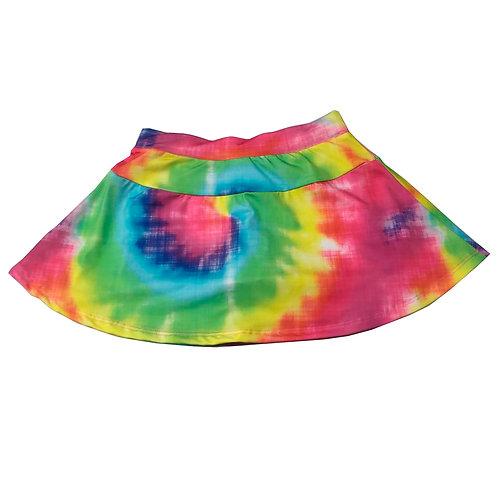 Saia shorts multicolorida
