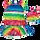Thumbnail: Vestido estampado tecido leve listras coloridas