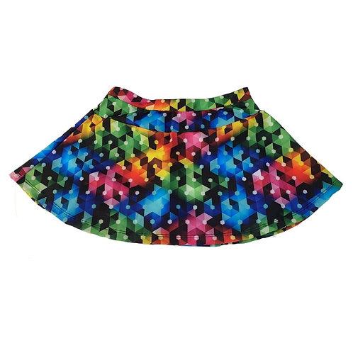 Shorts saia geométrica