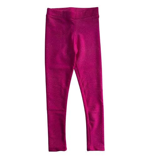 Legging cirre com brilho pink