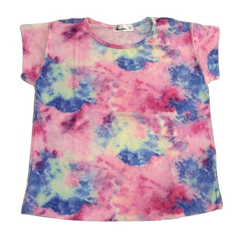 Camiseta tie dye rosa nunces