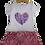 Thumbnail: Vestido plissado coração branco com rosa