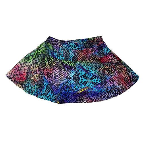 Shorts saia estampa cobra colorida